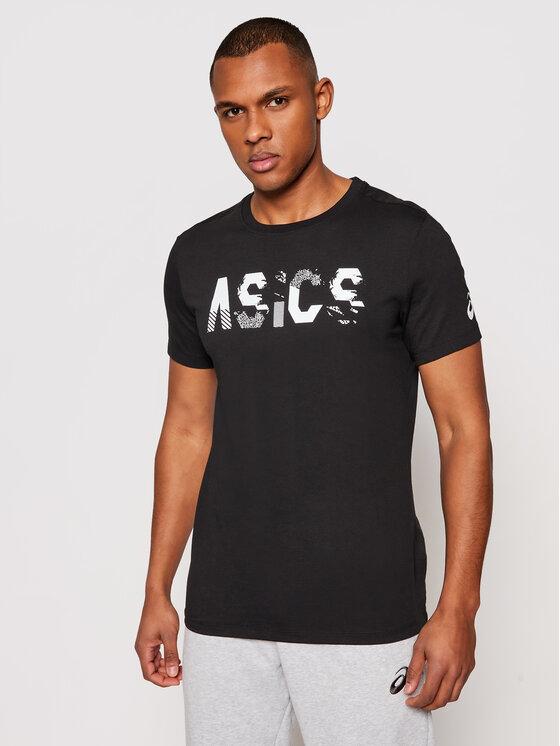 Levně Asics T-Shirt Seasonal Logo Tee 2031C157 Černá Regular Fit
