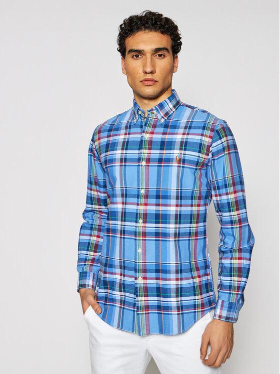 Polo Ralph Lauren Koszula Oxford 710837280001 Niebieski Custom Fit