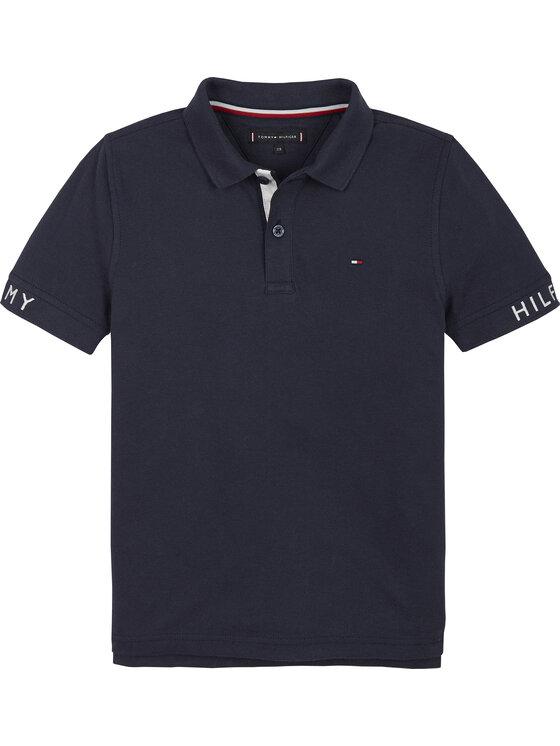 Tommy Hilfiger Tommy Hilfiger Polo Sleeve Text KB0KB05656 M Σκούρο μπλε Regular Fit