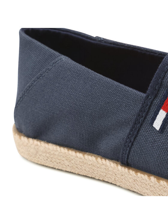 Tommy Jeans Tommy Jeans Espadryle Essential Espadrille EM0EM00773 Granatowy