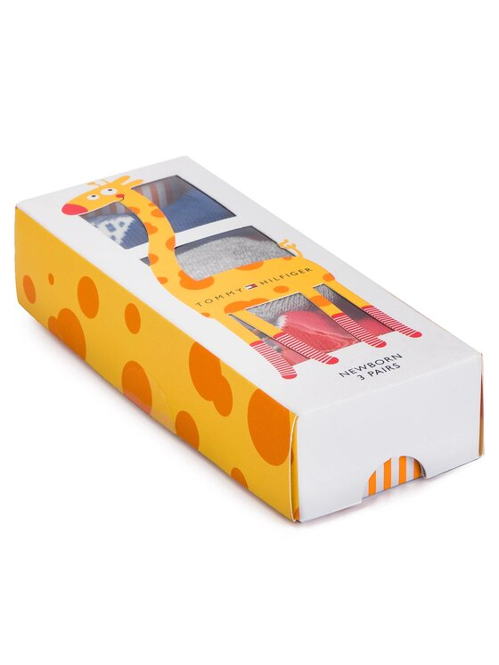Tommy Hilfiger Tommy Hilfiger Set de 3 perechi de șosete lungi pentru copii 395006001 Bleumarin