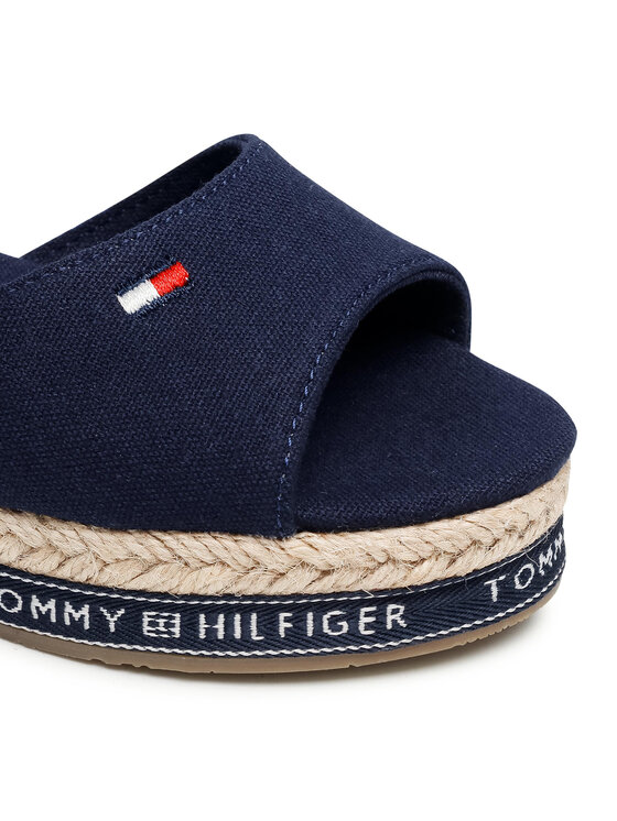 Tommy Hilfiger Tommy Hilfiger Espadryle Rope Wedge Sandal T3A2-31056-0048 M Granatowy