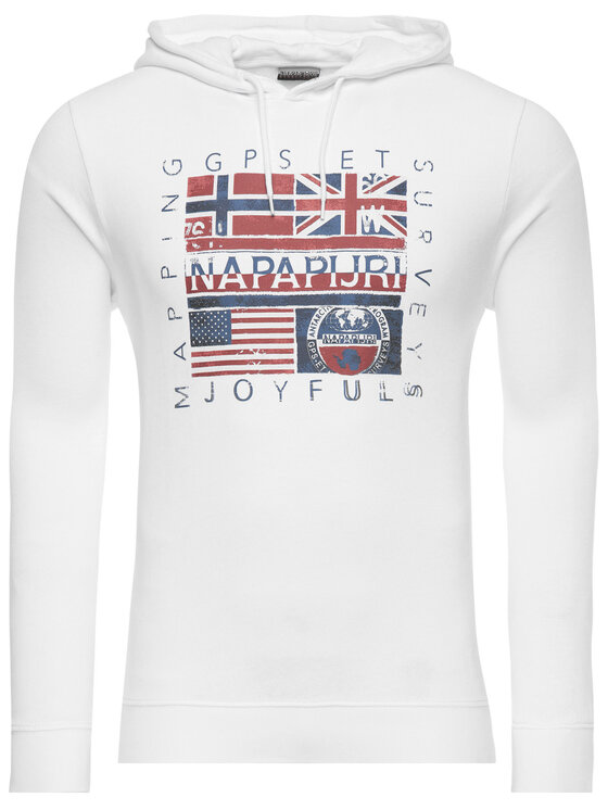 Napapijri Napapijri Bluză Bachu N0YINY Alb Regular Fit