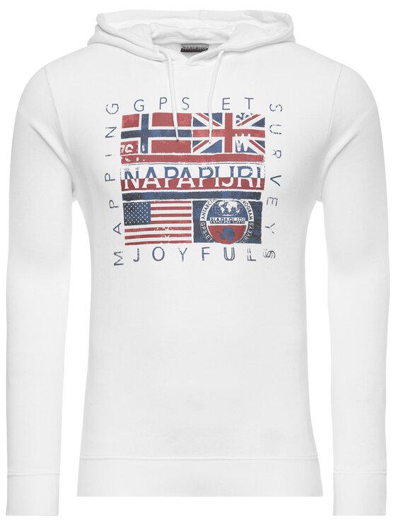 Napapijri Napapijri Sweatshirt Bachu N0YINY Weiß Regular Fit