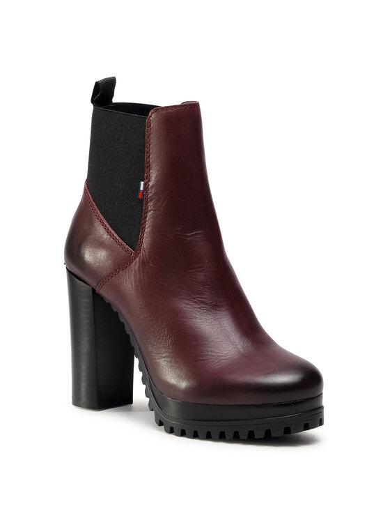 Tommy Jeans Aulinukai Essential Cleated Heeled Boot EN0EN01075 Bordinė