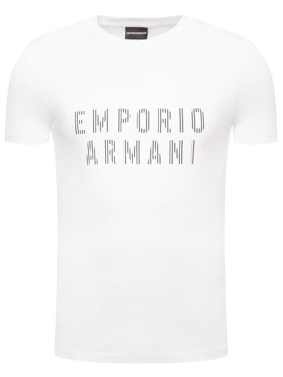 Emporio Armani Emporio Armani Marškinėliai 3H1TB7 1J30Z 0102 Balta Regular Fit