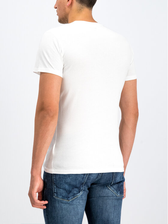 Pepe Jeans Pepe Jeans Тишърт Dean PM506537 Бял Slim Fit