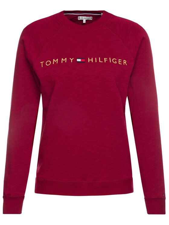 TOMMY HILFIGER TOMMY HILFIGER Mikina Track UW0UW02031 Bordová Regular Fit