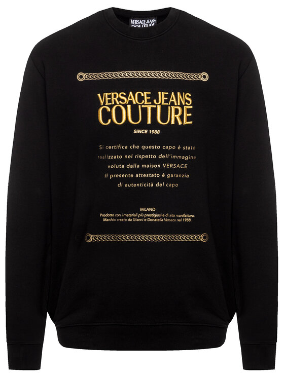Versace Jeans Couture Versace Jeans Couture Džemperis B7GUA7FN Juoda Regular Fit
