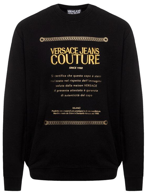 Versace Jeans Couture Versace Jeans Couture Суитшърт B7GUA7FN Черен Regular Fit