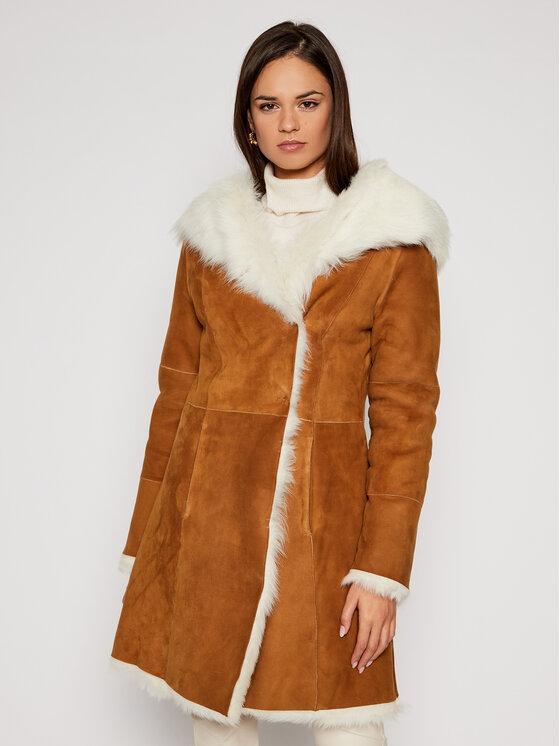 Ugg Žieminis paltas 1017644 Ruda Regular Fit