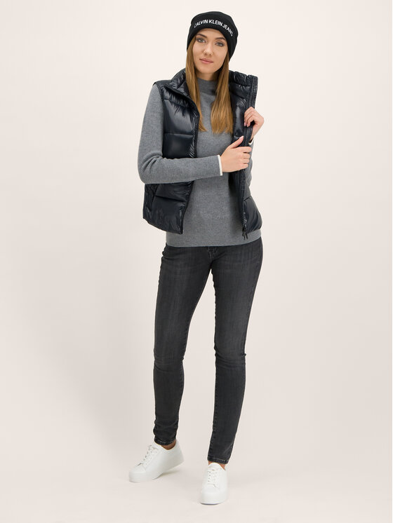 Calvin Klein Calvin Klein Ζιβάγκο Rib Funel K20K201328 Γκρι Regular Fit