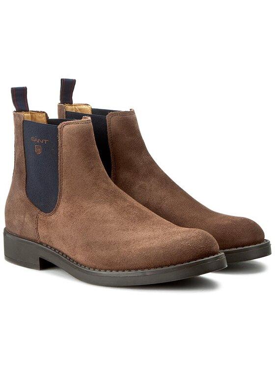 Gant Gant Kotníková obuv s elastickým prvkem Oscar 13653406 Hnědá