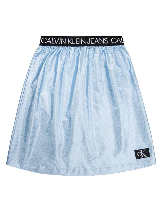 Calvin Klein Jeans Calvin Klein Jeans Spódnica Metallic Foil IG0IG00415 Niebieski Regular Fit