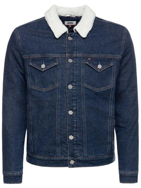Tommy Jeans Tommy Jeans Veste en jean Sherpa DM0DM07235 Bleu marine Regular Fit