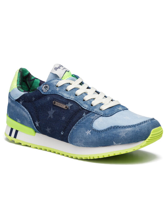 Pepe Jeans Pepe Jeans Sneakersy Gable Patch Star PLS30808 Niebieski