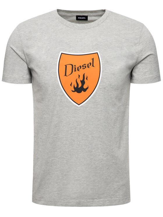 Diesel Diesel Marškinėliai T-Diego-B2 00SXMH 0091A Pilka Regular Fit