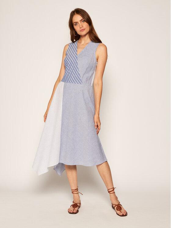 DKNY Sukienka letnia P0CBRESN Niebieski Regular Fit