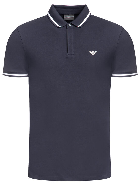 Emporio Armani Emporio Armani Тениска с яка и копчета 6G1FE1 1J0SZ 0922 Тъмносин Regular Fit
