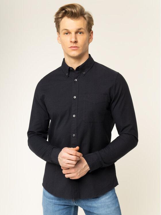 Calvin Klein Jeans Calvin Klein Jeans Košeľa Oxford J30J314224 Čierna Slim Fit