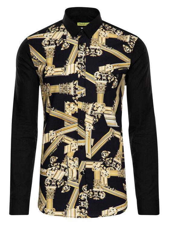 Versace Jeans Versace Jeans Πουκάμισο B1GTB6S2 Μαύρο Slim Fit