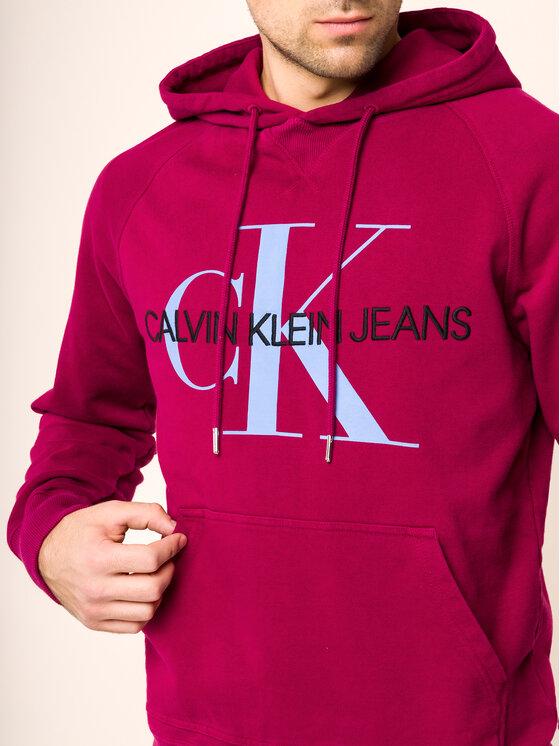 Calvin Klein Jeans Calvin Klein Jeans Суитшърт Monogram J30J313219 Бордо Regular Fit