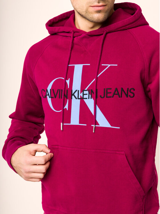 Calvin Klein Jeans Calvin Klein Jeans Sweatshirt Monogram J30J313219 Bordeaux Regular Fit