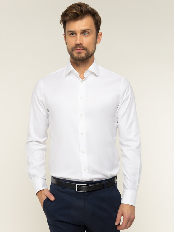 Tommy Hilfiger Tailored Tommy Hilfiger Tailored Marškiniai TT0TT01938 Balta Regular Fit