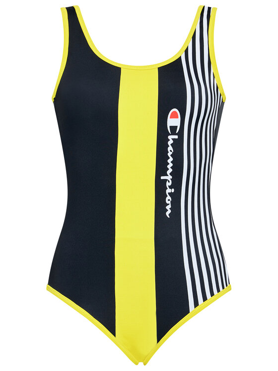 Champion Champion Costum de baie Graphic Stripe Logo 113109 Negru