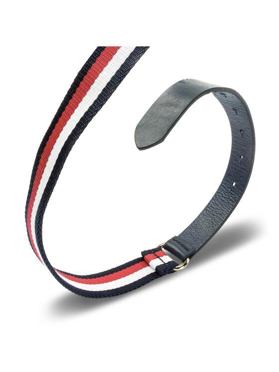 Tommy Hilfiger Tommy Hilfiger Cintura da donna Th Buckle Belt Seasonal 2.5 AW0AW05362 100 Blu scuro