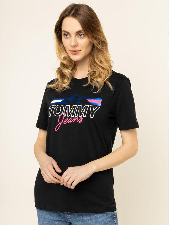 Tommy Jeans Tommy Jeans T-Shirt Mountain Flag DW0DW07533 Μαύρο Boyfriend Fit