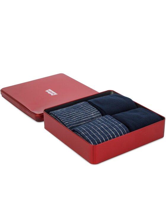 Levi's® Levi's® Súprava 4 párov vysokých pánskych ponožiek 983032001 Tmavomodrá