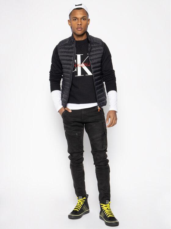 Calvin Klein Jeans Calvin Klein Jeans Mikina Monogram J30J313222 Černá Regular Fit