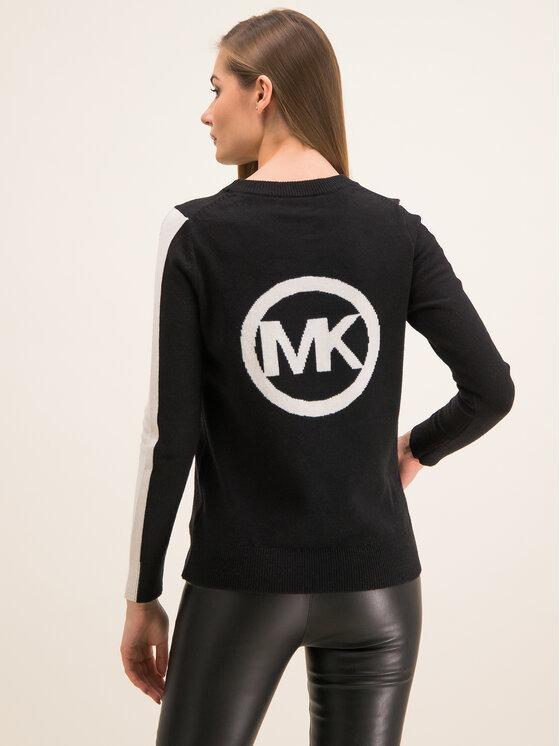 MICHAEL Michael Kors MICHAEL Michael Kors Pulover Intarsia MH96P42CHM Negru Regular Fit