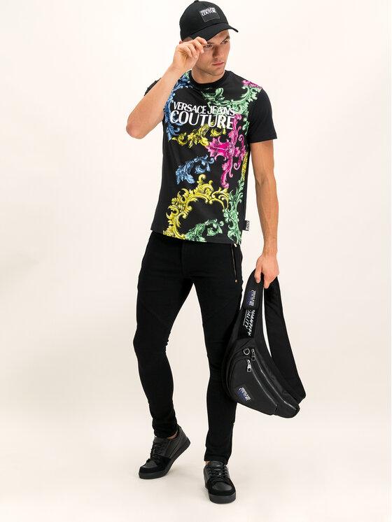 Versace Jeans Couture Versace Jeans Couture Marškinėliai B3GUB7M2 Juoda Regular Fit