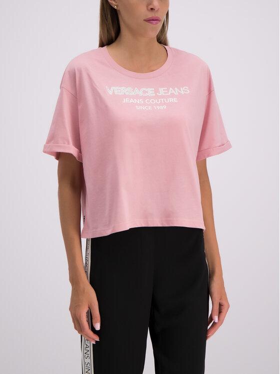 Versace Jeans Versace Jeans T-Shirt B2HTB7T6 Różowy Regular Fit