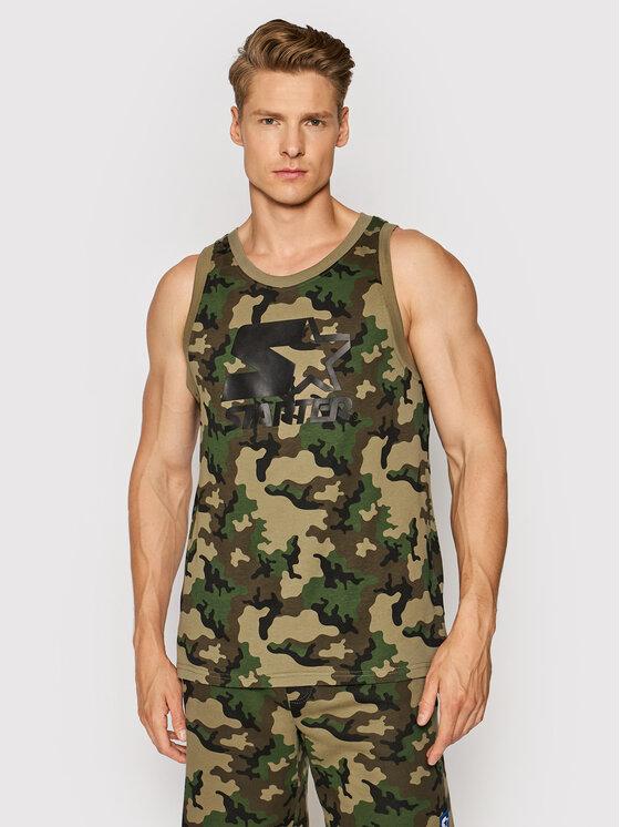 Starter Tank top marškinėliai SMG-016-BD Žalia Regular Fit