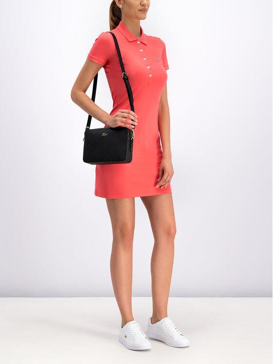 Lacoste Lacoste Ежедневна рокля EF8470 Розов Slim Fit