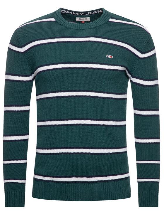 Tommy Jeans Tommy Jeans Sweter Tjm Fine DM0DM07001 Zielony Regular Fit
