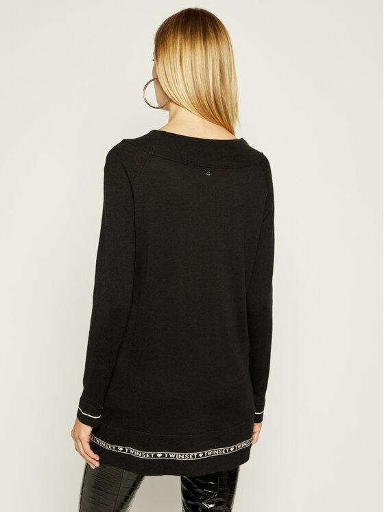 TWINSET TWINSET Плетена рокля 192TP3153 Черен Loose Fit