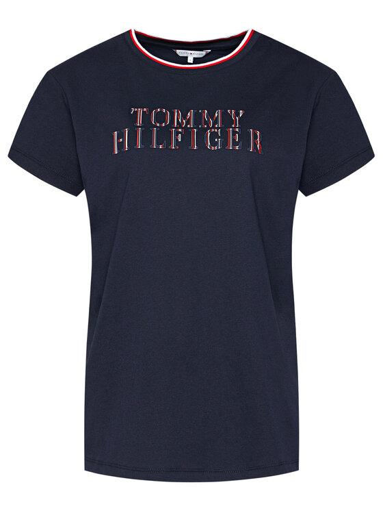 Tommy Hilfiger Tommy Hilfiger T-Shirt Carly WW0WW28446 Tmavomodrá Relaxed Fit
