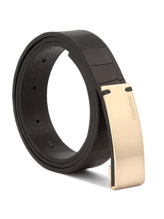 Calvin Klein Calvin Klein Dámsky opasok Curved Plaque Belt C 75 K60K603425 Čierna