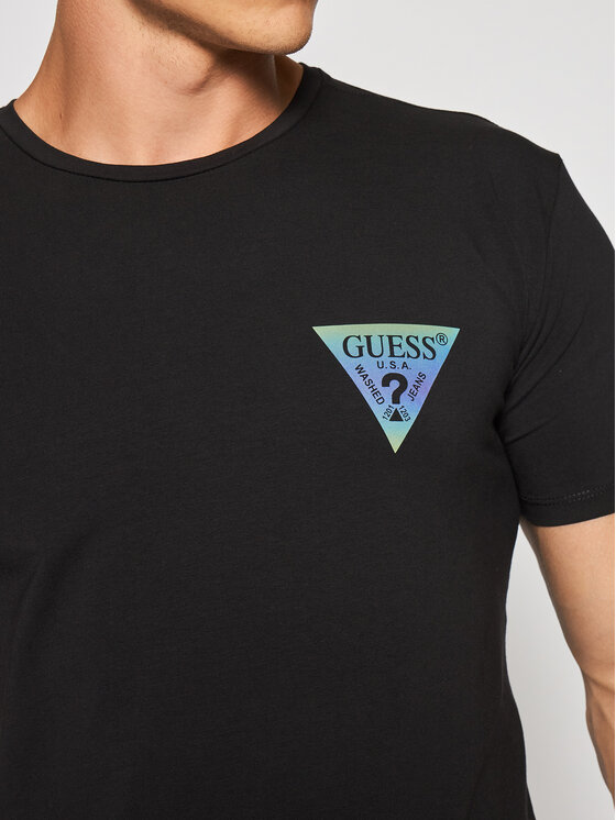 Guess Guess T-Shirt M93I66 J1300 Czarny Super Slim Fit