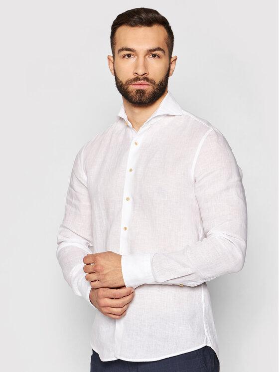 Stenströms Marškiniai 775221 7970 Balta Slim Fit