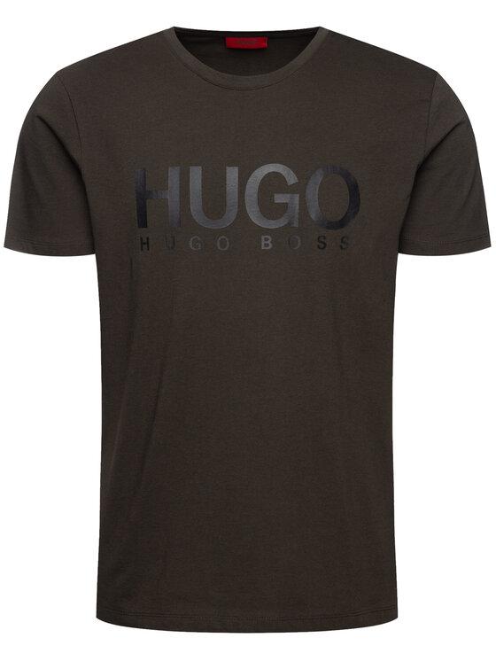 Hugo Hugo Marškinėliai 50387414 Žalia Relaxed Fit