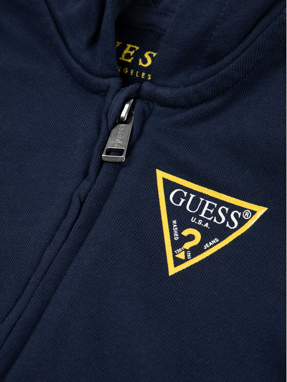 Guess Guess Bluza N81Q20 K5WK0 Granatowy Regular Fit