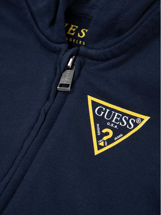 Guess Guess Μπλούζα N81Q20 K5WK0 Σκούρο μπλε Regular Fit