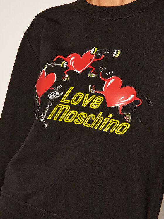 LOVE MOSCHINO LOVE MOSCHINO Mikina W630635E 2182 Černá Regular Fit