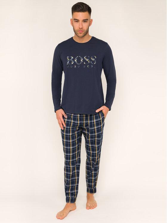 Boss Boss Piżama Dynamic Long Set 50414826 Granatowy Regular Fit
