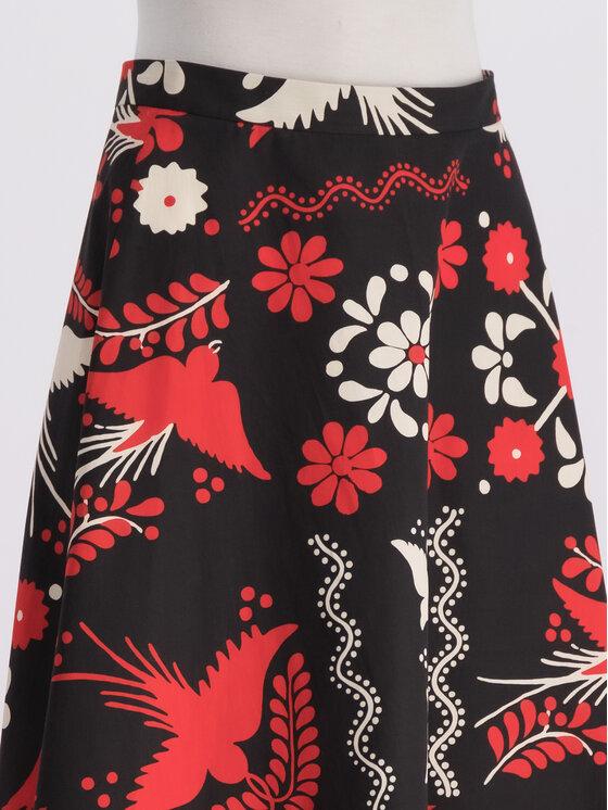 Red Valentino Red Valentino Trapézová sukňa RR0RAA75 Čierna Regular Fit
